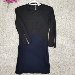 Zara midi blue and black size small dress